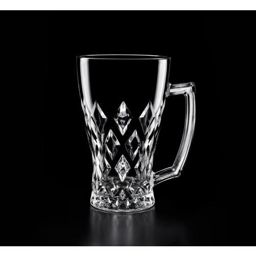 Losange Crystal Tea/Coffee/Latte Glasses, Set of 2
