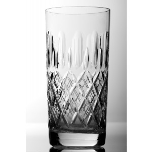 Crucis 24% Lead Crystal Highball Glasses, Set of 6