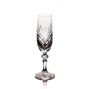 Timeless 24% Lead Crystal Champagne Glasses, Set of 6