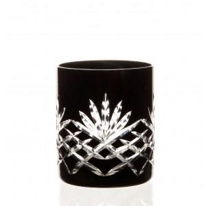 Timeless 24% Lead Crystal Black Whisky Glasses, Set of 6