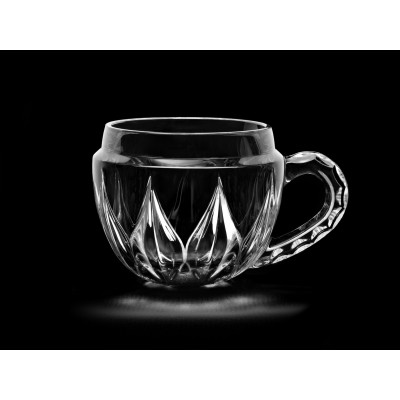 Lotus Small Crystal Tea/Coffee/Cappuccino Bowl Mug , Set of 6